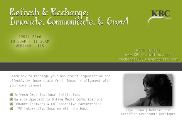 Refresh & Recharge Webinar Promo
