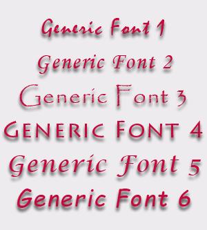 Generic Fonts